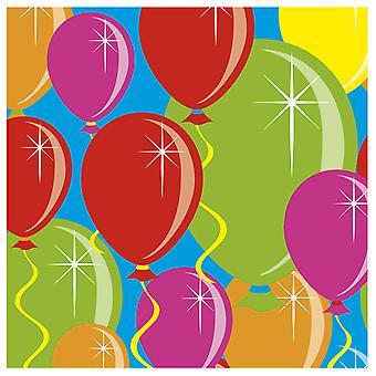 Ballon design part servietter 20 St. fødselsdag dekoration part servietter