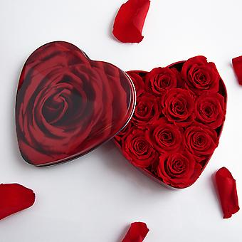 Rosendeko gift box Red Roses heart