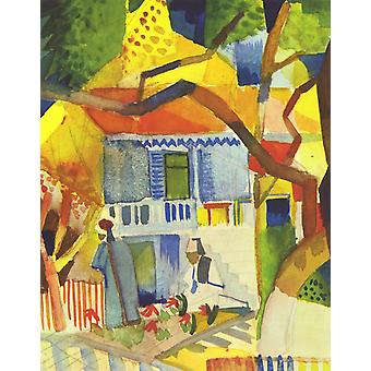 August Macke - Colourful House Poster Print Giclee