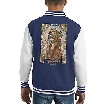 Zelda Link Hylian Spirit Kid's Varsity Jacket
