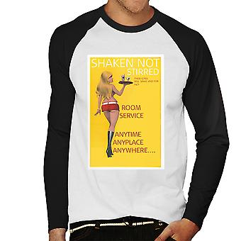 Shaken Not Stirred Sexy Room Service Girls Men's Baseball Long Sleeved T-Shirt
