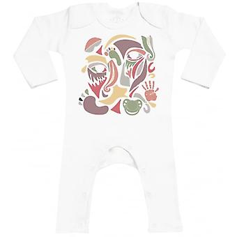 Spoilt Rotten Colour Face Collage Baby Footless Romper