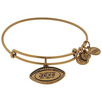 Alex and Ani NFL New York Jets Football Expandable Wire Bangle Bracelet - AS13NYJ02RG