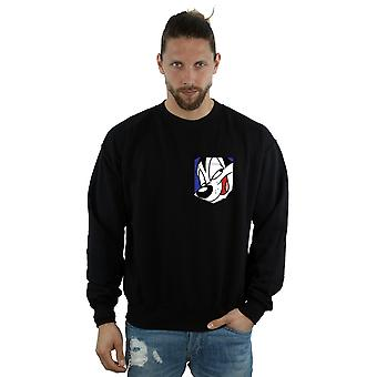 Looney Tunes Men's Pepe Le Pew Face Faux Pocket Sweatshirt