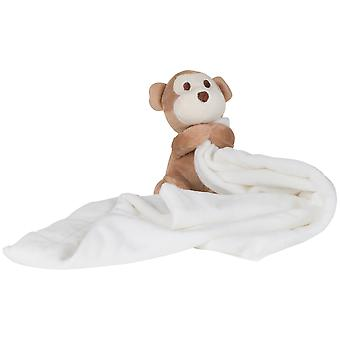 Mumbles Baby Boys/Girls Plush Monkey Comforter Blanket