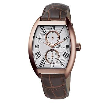 Thomas Earnshaw Es-8004-04 Holborn Rose Gold & Brown Leather Multifunctional Men's Watch