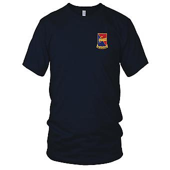 US Army - 303rd Cavalry Regiment Embroidered Patch - Mens T Shirt
