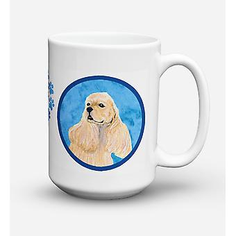 Cocker Spaniel  Dishwasher Safe Microwavable Ceramic Coffee Mug 15 ounce SS4798