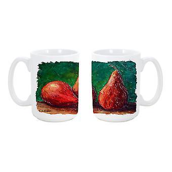 Once de lave-vaisselle sûre pour micro-ondes céramique Coffee Mug 15 de poires