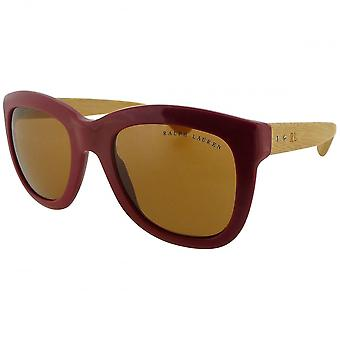 Ralph Lauren Ladies Ralph Lauren Red Square Oversized Sunglasses With Wood Finish Arms
