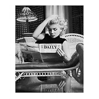 Marilyn Monroe Motion Picture Daily NYC 1955 Poster Print by Ed Feingersh (15 x 19)