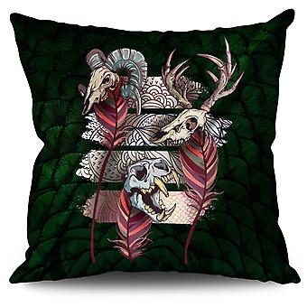 Beast Animal Death Linen Cushion Beast Animal Death | Wellcoda