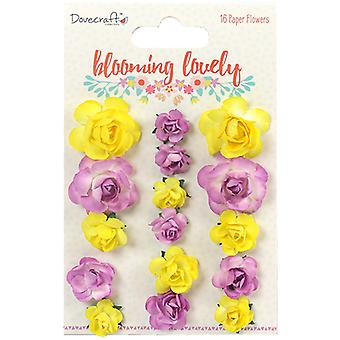 Dovecraft Blooming Lovely Paper Flowers 16/Pkg- DCFLW012