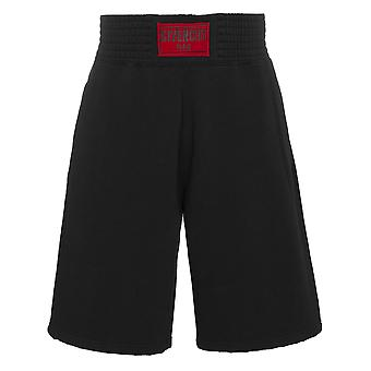 Givenchy men's BM501A3Y04001 black cotton of shorts