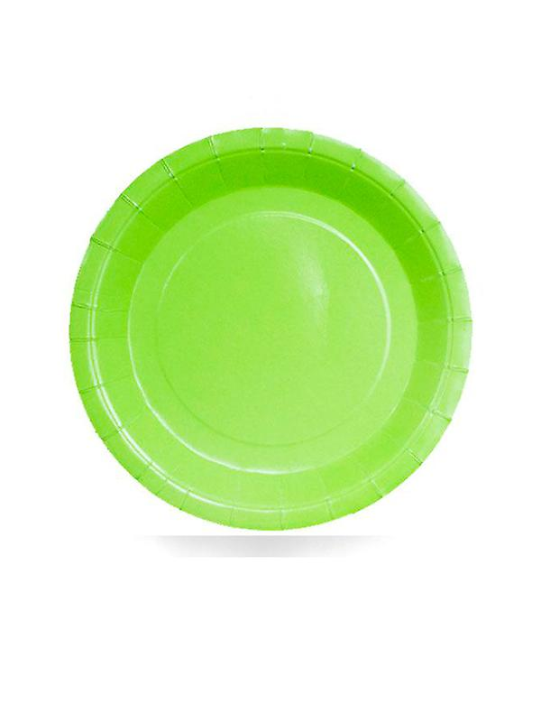 Lime Green Paper Plates 9""