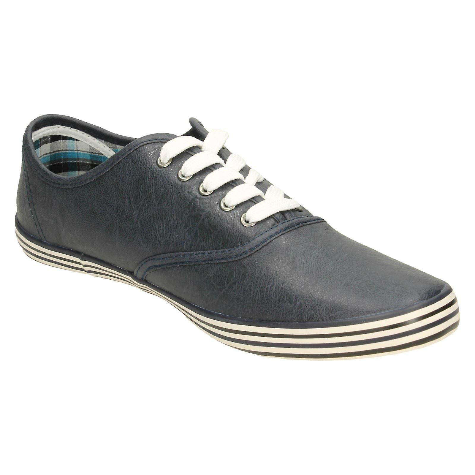 Mens Spot On Flat Lace Up Shoes