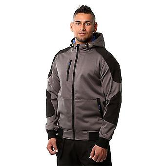 GoodYear Mens Softshell hette reflekterende Fleece Full Zip vanntett jakke
