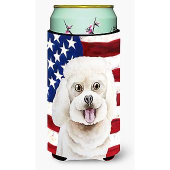 Bichon Frise patriotischen großer Junge Getränk Isolator Hugger