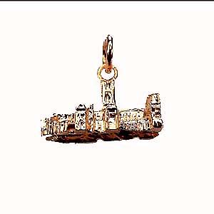 9ct yellow gold 18x9mm The Houses of Parliament Charm or Pendant
