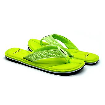 Atlantis Shoes Men Supportive Cushioned Comfortable Sandals Flip Flops Simply Colorful Neo Green