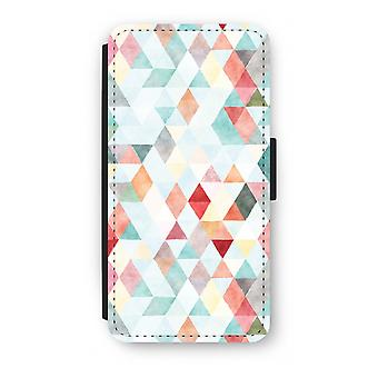 Samsung Galaxy S8 Plus Flip Case - Coloured triangles pastel