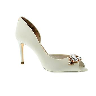 Ted Baker Kliohna - talons Womens Satin Ivoire (blanc)