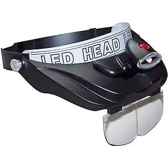 Headband magnifier incl. LED lighting Magnification: 1.2 x, 1.8 x, 2.5 x, 3.5 x