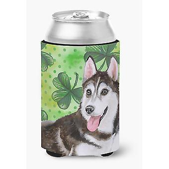 Siberian Husky #2 St Patrick's Can or Bottle Hugger