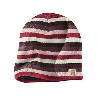 Carhartt Striped Knit Beanie - Light Orchid Womens Warm Winter Ski Hat