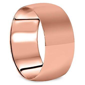 10 Dome mm høy polert bryllup Band 14K Rose Gold