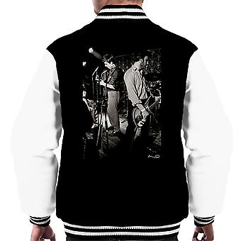 Ian Curtis And Peter Hook Of Joy Division Bowdon Vale Youth Club Men's Varsity Jacket