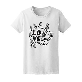 Boho Love Feathers  Tee Women's -Image by Shutterstock