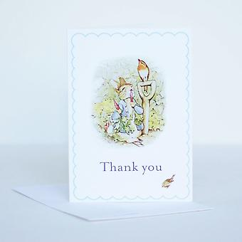 Peter Rabbit Thank You Cards Set of 6 with Envelope