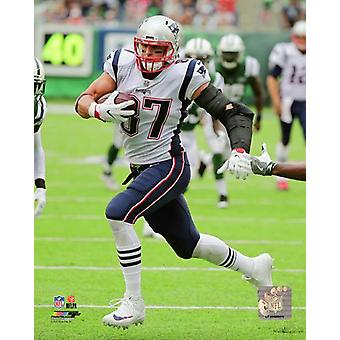 Rob Gronkowski 2017 Action Photo Print