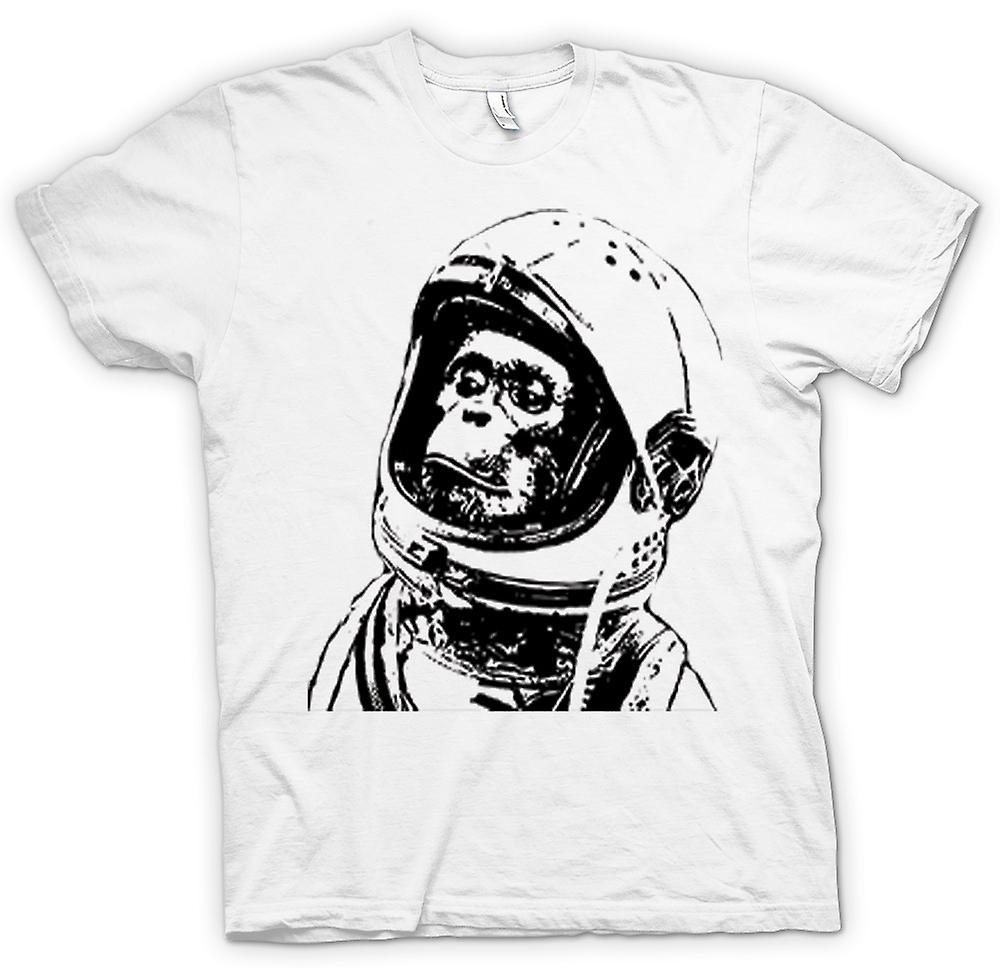 Womens T-shirt - Space Monkey svart & vit teckning