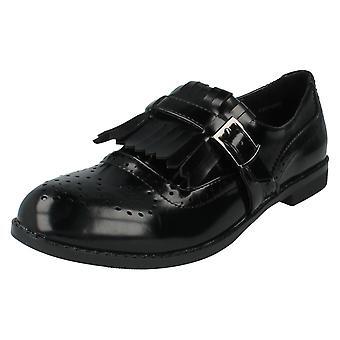 Ladies Spot On Shoes Style F80108 Black Patent Size 8 UK