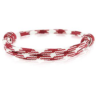 Skipper bracelet surfer band node maritimes bracelet nylon Bordeaux/white 6741