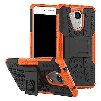 Hybrid tilfelle 2 stykke Koczian utendørs oransje for Huawei honor 6C veske coveret beskyttelse