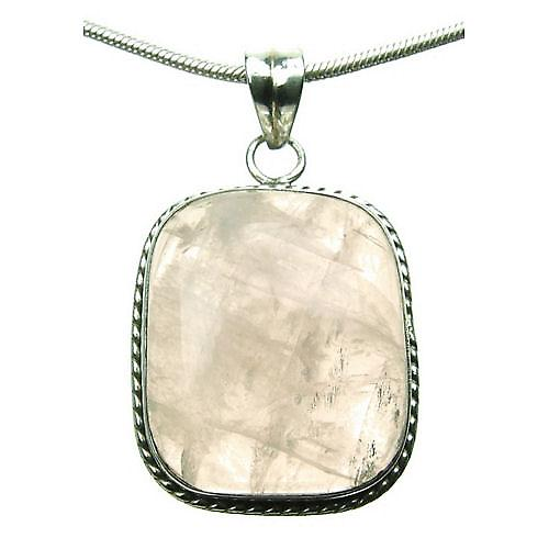 Misty Rose Quartz Silver 925 Pendant