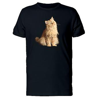 Red Cat Sitting Looing Up Tee Men's -Image by Shutterstock
