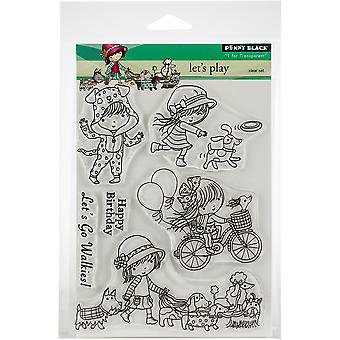 Penny Black Clear Stamps-Let's Play