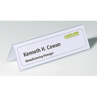 Durable 8052-19 Desk name plate Paper size=210 x 61/122 mm (W x H) 25 pcs/pack.