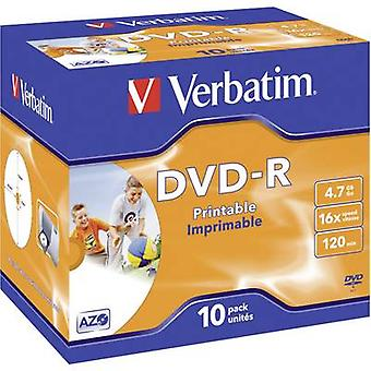 Blank DVD-R 4.7 GB Verbatim 43521 10 pc(s) Jewel case Printable