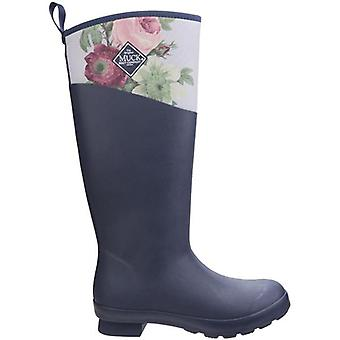 Muck Boots Tremont Grey and Navy Floral Wellington Boots
