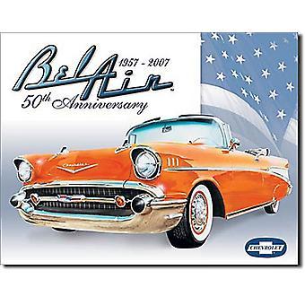 Chevrolet Belair 50Th Anniversary metalowy znak