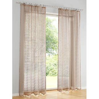 Scalloped end net optics beige Heine home of high quality embroidered romantic de Kapoor doors shabby