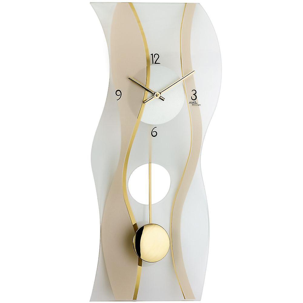 Satin Avec Quartz À Verre Et Murale Horloge Imprimé Minéral Pendule Ye29WDEHIb