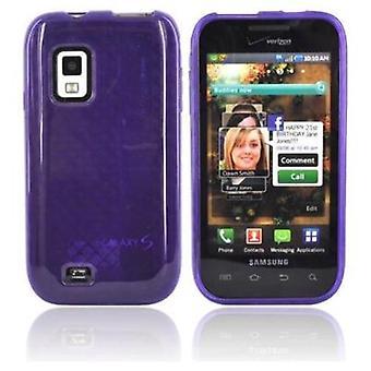 OEM Verizon High Gloss Silicone Case for Samsung Fascinate SCH-I500 (Purple) (Bu