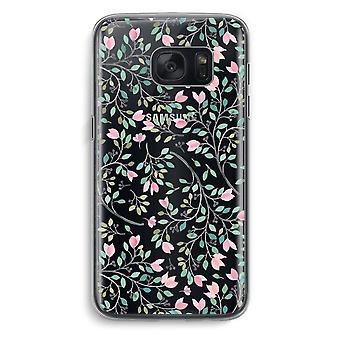 Samsung Galaxy S7 Transparent fodral (Soft) - nätta blommor