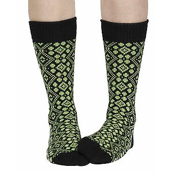 Cathedral recycled cotton patterned crew socks in pistachio | Sidekick